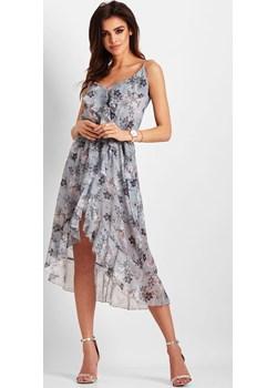 Szyfonowa asymetryczna sukienka Chantal Ivon  Preciosa - kod rabatowy