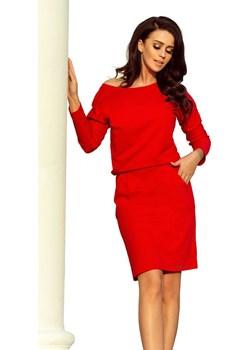 Numoco Sukienka damska 189-4, czerwony, M Numoco Mall - kod rabatowy