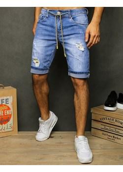 Spodenki męskie jeansowe niebieskie SX1277 Dstreet  promocja   - kod rabatowy