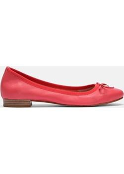 Czerwone baleriny damskie  Kazar okazyjna cena   - kod rabatowy