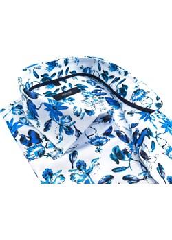 Biała koszula w niebieskie kwiaty Mmer C158 Mmer  okazja Modini  - kod rabatowy