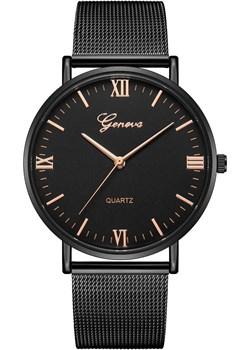 Zegarek GENEVA bransoleta MESH czarny Geneva iloko.pl - kod rabatowy