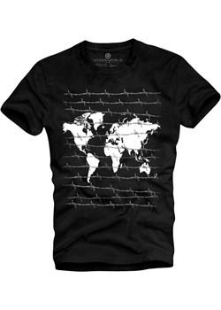 T-shirt męski UNDERWORLD World czarny Underworld  morillo okazyjna cena  - kod rabatowy