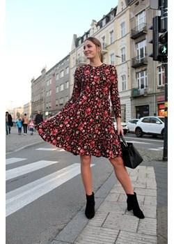 Kobieca sukienka w kwiaty 44 Far Far Łódź okazyjna cena FAR FAR ŁÓDŹ - kod rabatowy