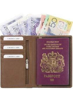 Portfel chroniący karty zbliżeniowe oraz paszport biometryczny (Brązowy) brazowy Koruma Id Protection  - kod rabatowy