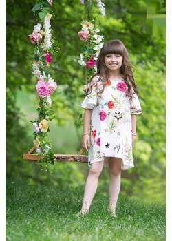 Letnia Urocza, zwiewna sukienka w kwiaty dla dziewczynki od MałaMi Małami  promocja mini-elegancja.eu  - kod rabatowy