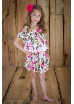 Letnia Hiszpanka w kwiaty dla dziewczynki  od MałaMi Małami  mini-elegancja.eu promocyjna cena  - kod rabatowy