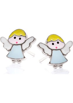 Kolczyki MINI srebrne aniołek Ania Kruk   - kod rabatowy