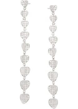 Kolczyki CEREMONY srebrne z serduszkami i cyrkoniami  Ania Kruk  - kod rabatowy
