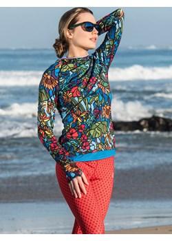 Bluza treningowa z kapturem Mosaic Flora - LBK-11M4 Nessi Sportswear Nessi Sportswear - kod rabatowy