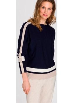 Granatowy sweter 11003222 Boho Vibes Granat 38 Olsen eOlsen - kod rabatowy