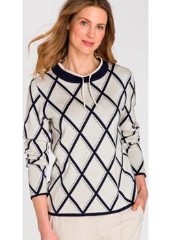 Sweter z geometrycznym wzorem 11003292 Boho Vibes Beżowy 36 Olsen Olsen - kod rabatowy
