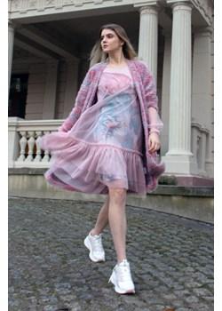 Romantyczna sukienka z falbaną 46 Far Far Łódź okazja FAR FAR ŁÓDŹ - kod rabatowy
