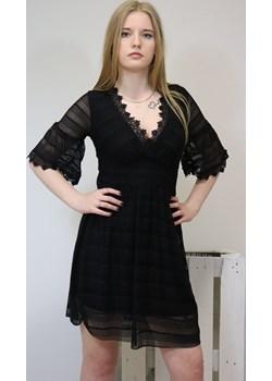 Sukienka damska CHARM - czarny ALLEMODA - kod rabatowy