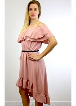 Sukienka damska AMELIA - różowy ALLEMODA - kod rabatowy