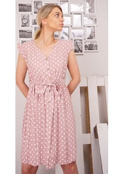 Sukienka damska DEMETER - różowy ALLEMODA - kod rabatowy