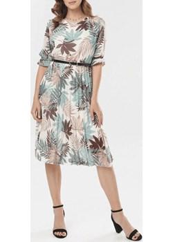 Sukienka damska LEAF - miętowy ALLEMODA - kod rabatowy