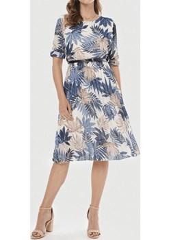 Sukienka damska LEAF - niebieski ALLEMODA - kod rabatowy