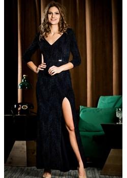 Sukienka wieczorowa Marcelina - granat - BB Studio B&b Studio wyprzedaż B&B Studio - kod rabatowy