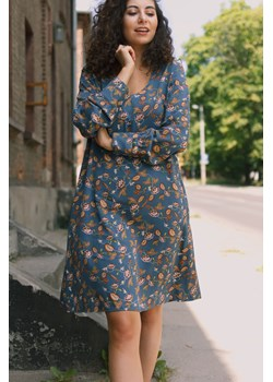 Sukienka z bufiastym rękawem 44 Far Far Łódź FAR FAR ŁÓDŹ okazja - kod rabatowy
