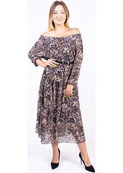 Sukienka damska FILIPPA - brązowy ALLEMODA - kod rabatowy