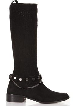 Czarne kozaki z łańcuszkiem Lewski Lewski shoes - kod rabatowy