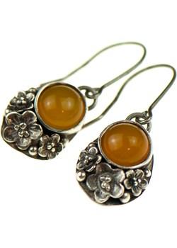 Sara  okwiecone srebrne kolczyki z żółtymi kamieniami Artseko   - kod rabatowy