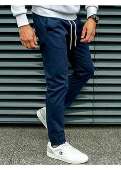 Spodnie męskie joggery na gumce granatowe Recea Recea  okazja Recea.pl  - kod rabatowy