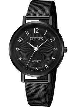 Zegarek DAMSKI GENEVA czarny MESH elegancki Geneva iloko.pl - kod rabatowy