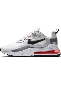 Buty męskie Nike Air Max 270 React - Biel Nike Nike poland promocyjna cena - kod rabatowy