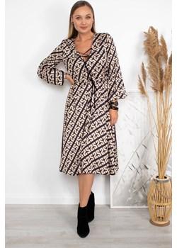 Sukienka Amy cappuccino   Ubranco - kod rabatowy