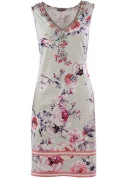Lekka wiosenna sukienka na szerokich ramkach MALVIN wiosna 2020 model 8928-012 Malvin samplesale.pl - kod rabatowy