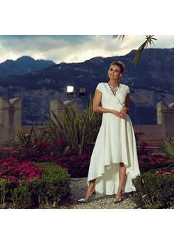 Sukienka Selena biała(ecru) - z długim trenem, ślubna Marconi MyLittleHeaven - kod rabatowy