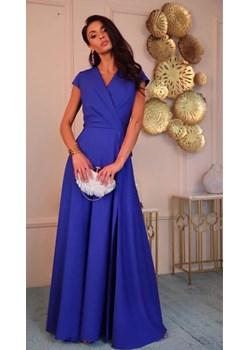 Sukienka długa z rozcięciem(chaber)  Marconi MyLittleHeaven - kod rabatowy