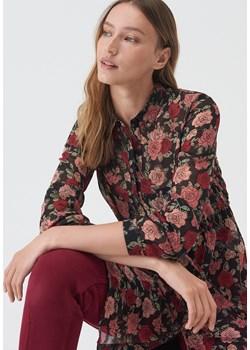 Sinsay - Dłuższa koszula w kwiaty - Sinsay Sinsay - kod rabatowy