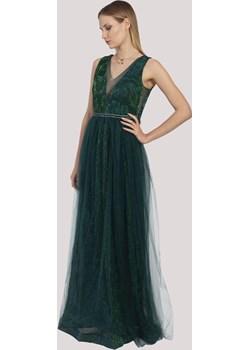 Sukienka LOVELY maxi tiulowa z perełkami w pasie Maravilla Boutique Maravilla Boutique  - kod rabatowy