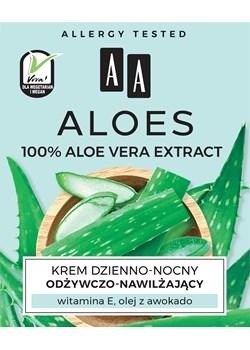 AA ALOES 100% aloe vera extract krem dzienno-nocny odżywczo-nawilżający 50 ml Oceanic_sa Oceanic_SA - kod rabatowy