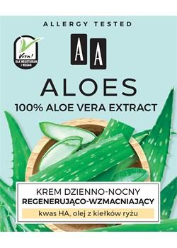 AA ALOES 100% aloe vera extract krem dzienno-nocny regenerująco-wzmacniający 50 ml Oceanic_sa Oceanic_SA - kod rabatowy