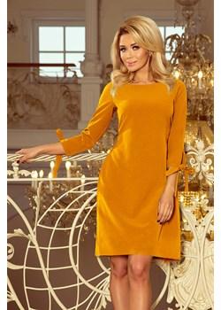 195-6 ALICE Sukienka z kokardkami - MUSZTARDA Numoco okazja PATINA Fashion Boutique - kod rabatowy