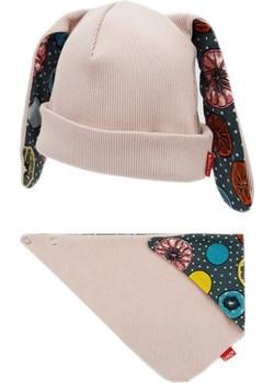 Zestaw czapka i chusta Kłapouchy, jasny róż Bexa TuSzyte - kod rabatowy