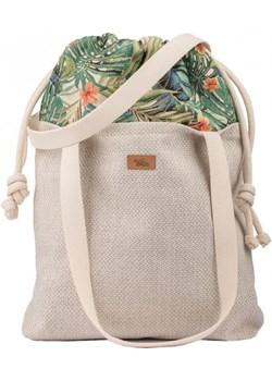 "Torebka worek ""DUOBAG"" materiałowa, kremowa w palmy Me&Bags   - kod rabatowy"
