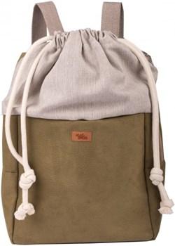 """Plecak damski """"DUO"""" z eko-zamszu, kolor oliwkowy Mebags wyprzedaż me&BAGS - kod rabatowy"""