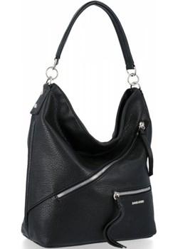 Uniwersalna torebka damska David Jones Czarna David Jones torbs.pl okazyjna cena - kod rabatowy