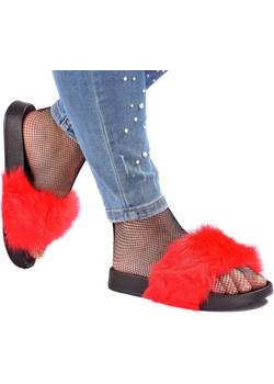 Czerwone Klapki Furry XXL Vices okazja Attaria - kod rabatowy