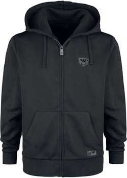 Black Premium by EMP - Hooded Jacket with Patch Details - Bluza z kapturem rozpinana - czarny EMP - kod rabatowy