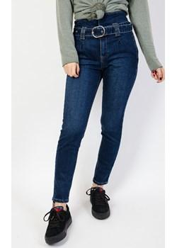 Spodnie jeansowe z wysokim stanem bez kieszeni  Olika olika.com.pl - kod rabatowy