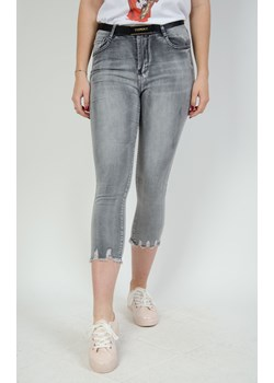Szare cieniowane spodnie jeansowe 7/8 Olika  olika.com.pl - kod rabatowy