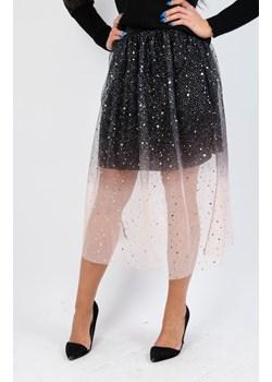 Czarno-różowa tiulowa spódnica z brokatem  Olika olika.com.pl - kod rabatowy