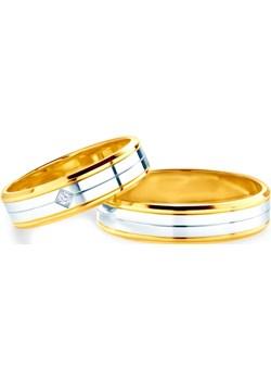 Obrączki ślubne: dwukolorowe złoto, płaskie, 5 mm Savicki okazyjna cena SAVICKI - kod rabatowy