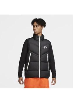 Bezrękawnik męski Nike Sportswear Down-Fill Windrunner - Czerń Nike promocyjna cena Nike poland - kod rabatowy